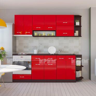 Модулни кухни CITY - Червено гланц хайглос / Венге 316