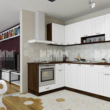 Модулни кухни CITY - МДФ Бяло фладер / Венге 316